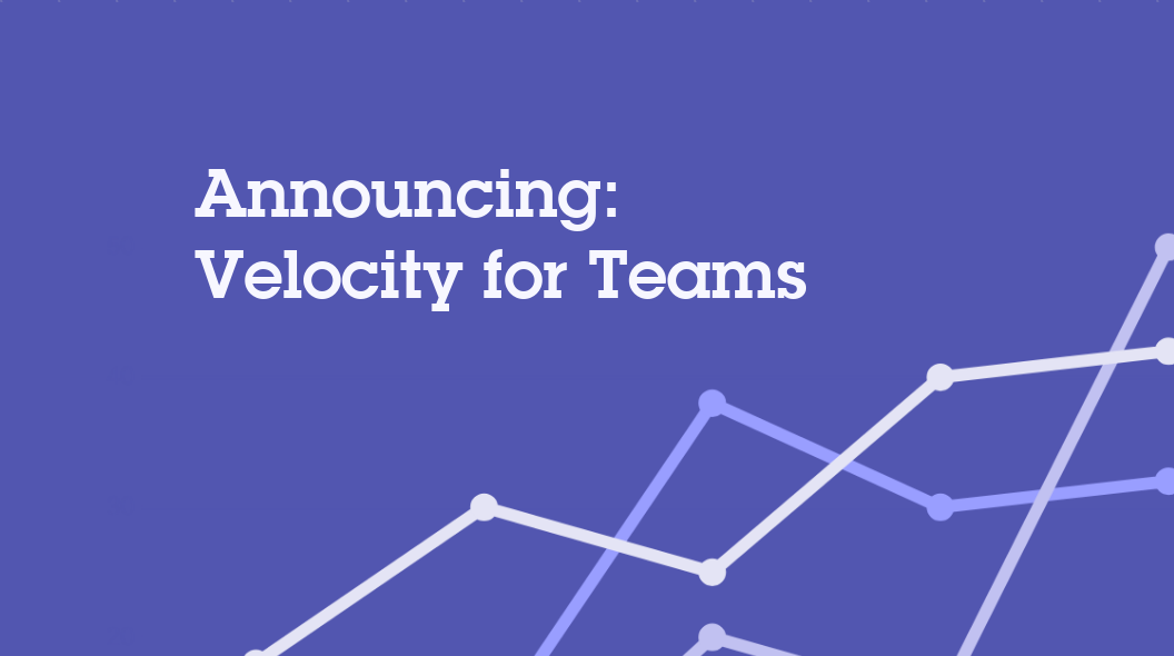 announcing velocity for teams