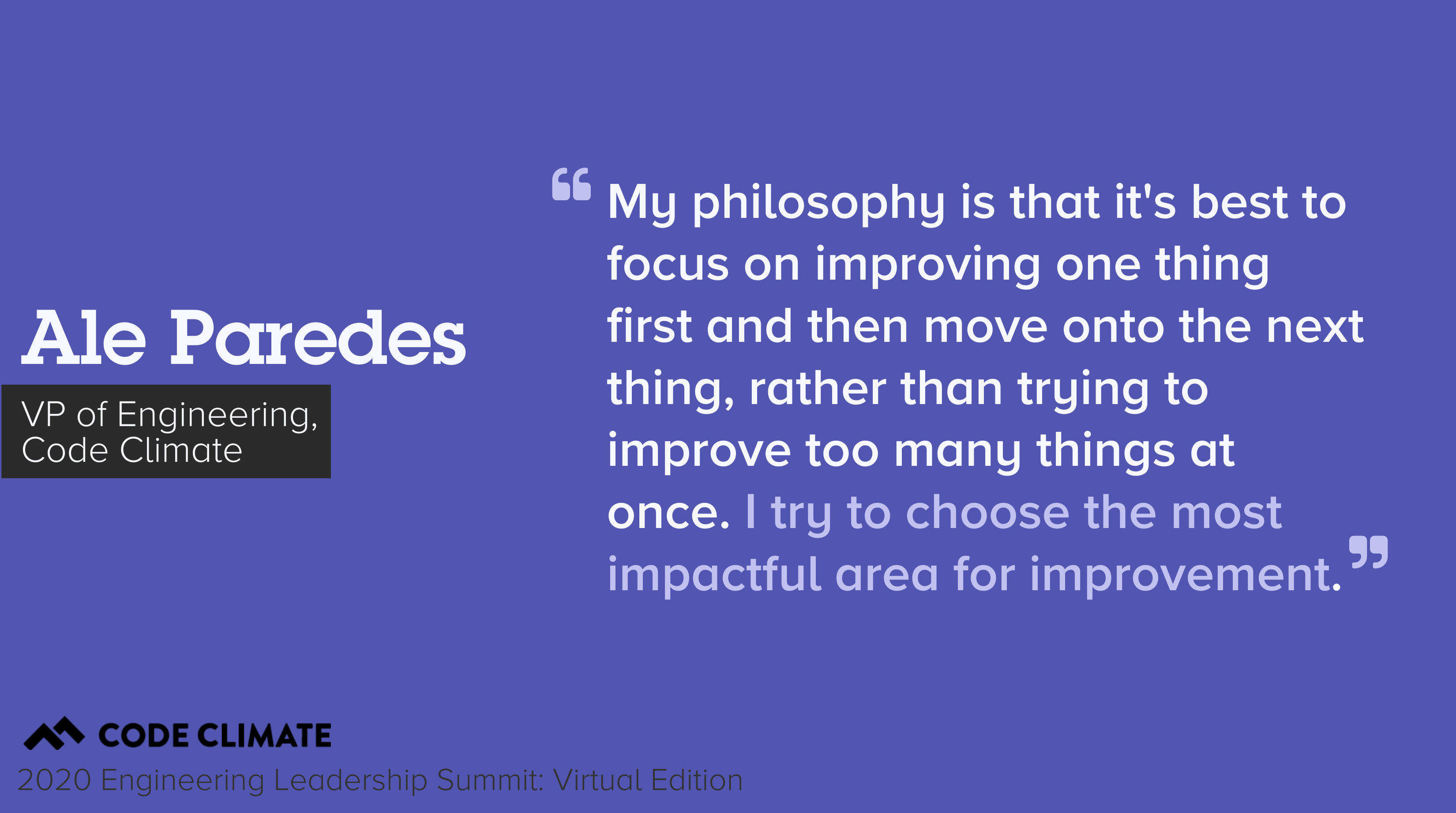 ale quote about impactful metrics
