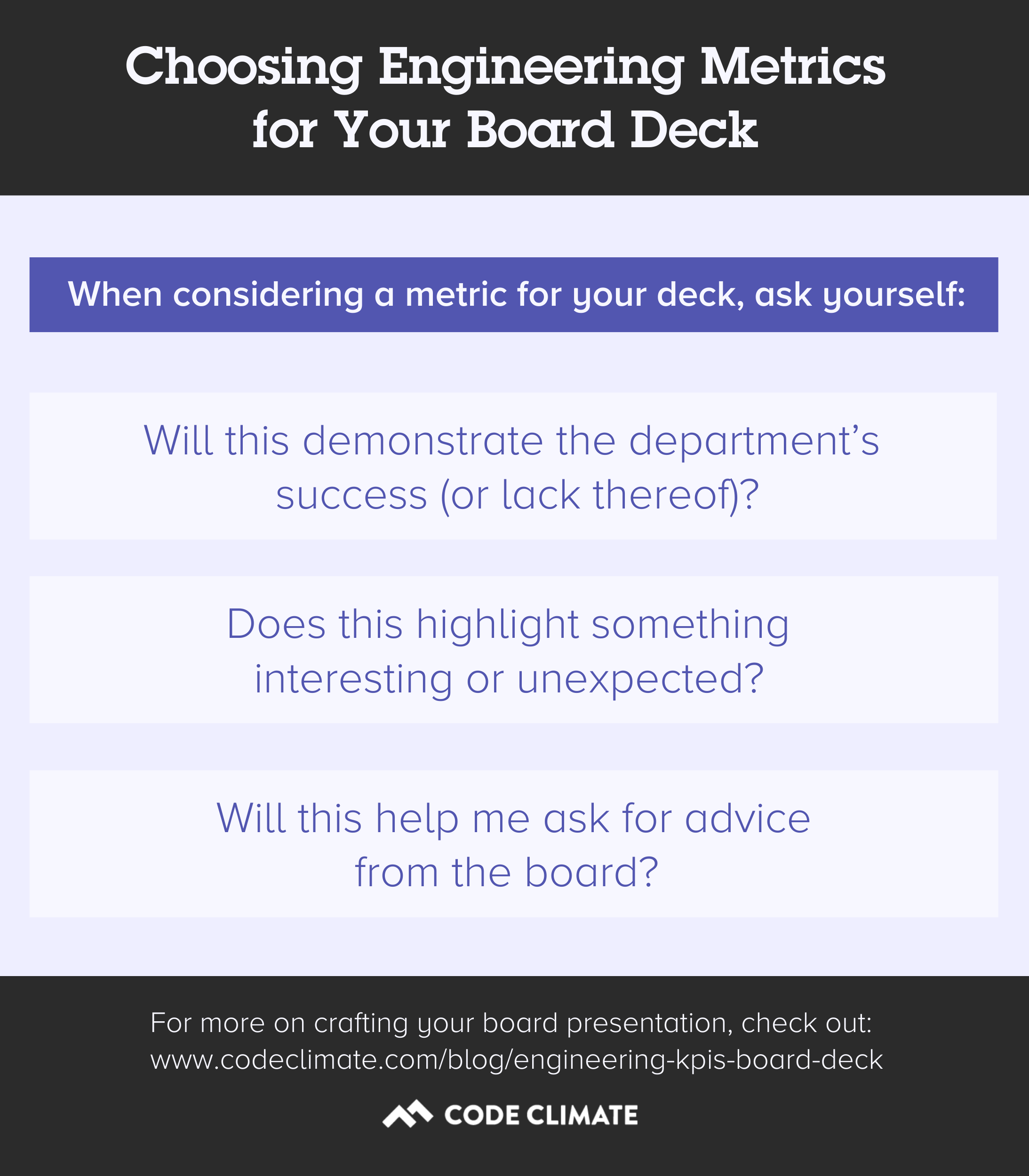 board deck metric criteria