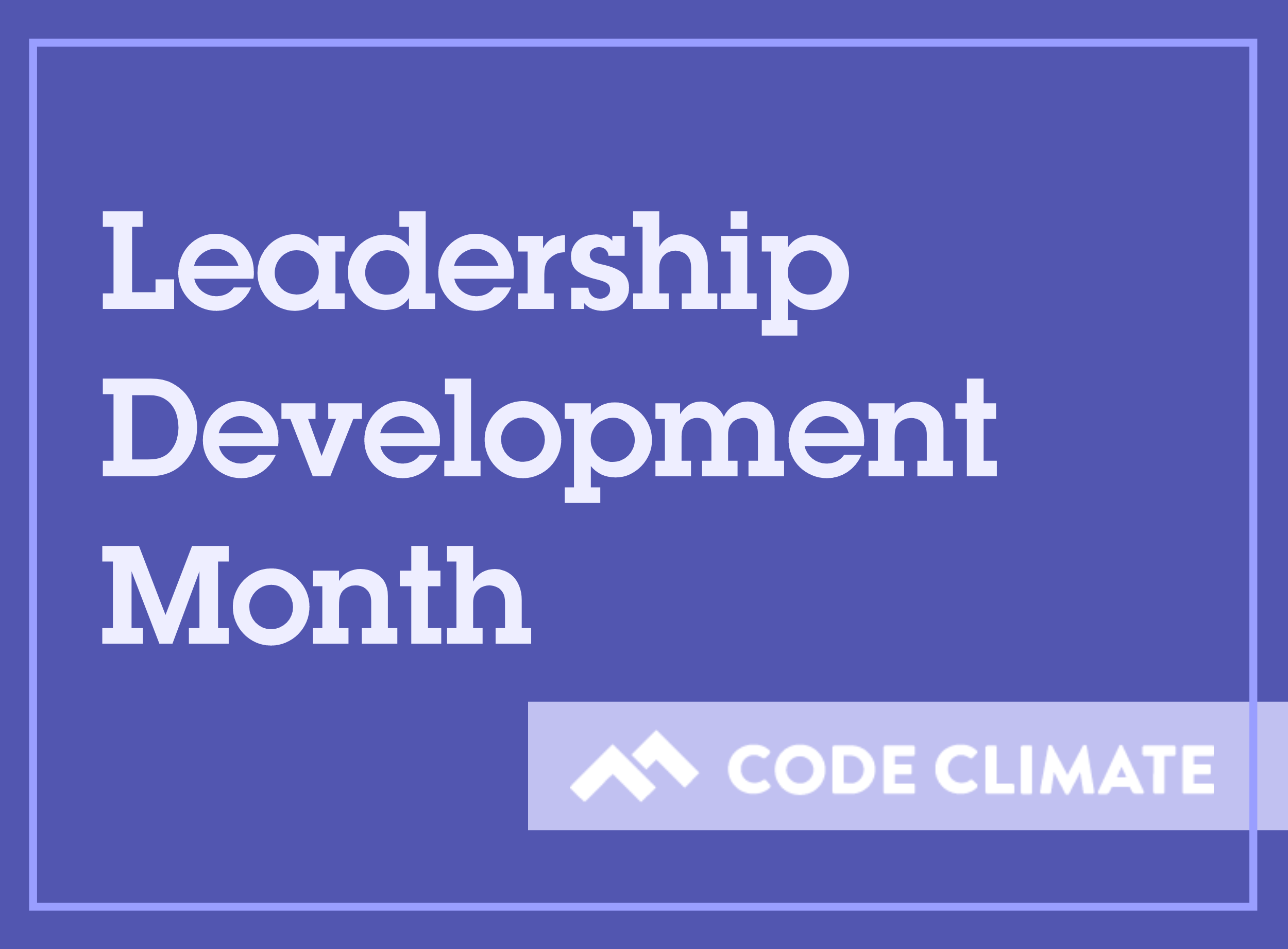 leadership development month banner