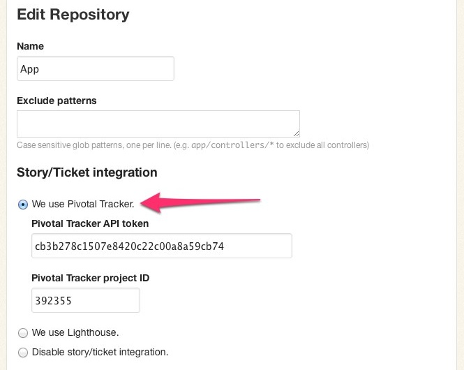 Configuring Tracker integration