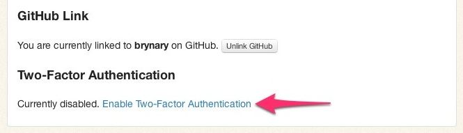 Two-Factor Authentication Settings