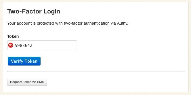Two-Factor Login