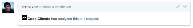Pull request status as a comment