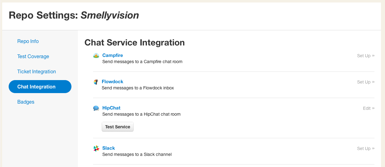 Repo chat integrations