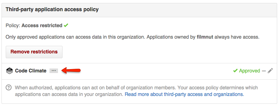 Third-Party Application Restrictions